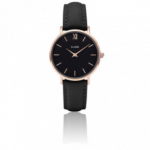 Reloj Minuit Rose Gold Black Black CL30022