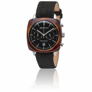 Reloj Briston Clubmaster Vintage Acetato Chronographe Date Negro