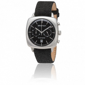 Reloj cronógrafo Clubmaster Vintage Acero Date Franela negra