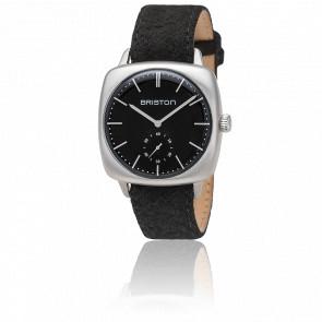 Reloj Clubmaster Vintage Acero HM Segundero Franela negra