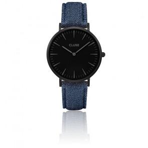 Reloj La Bohème Full Black/Blue Denim CL18507