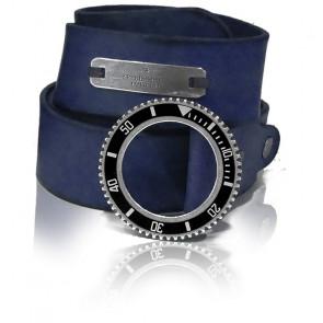 Cinturón Cuero Azul