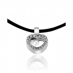 Collar Dancing Diamonds Corazón
