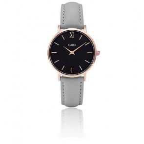 Reloj Minuit Rose Gold Black Grey CL30018