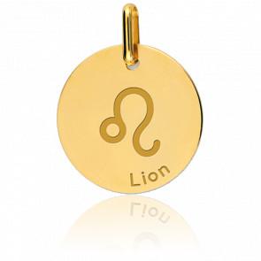 Medalla Signo del Zodiaco Leo Oro Amarillo