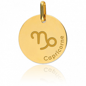 Medalla Signo del Zodiaco Capricornio Oro Amarillo