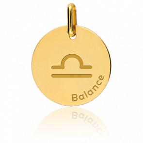 Medalla Signo del Zodiaco Libra Oro Amarillo
