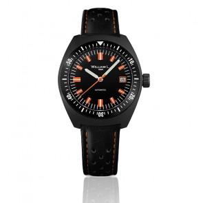 Reloj Auto Diver Black PVD Black Leather