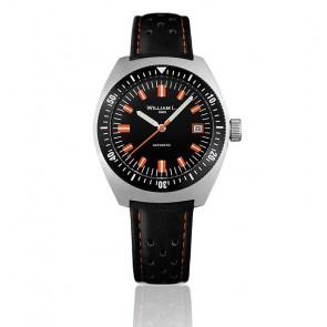 Reloj Auto Diver Black Dial Black Leather