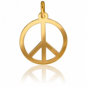 """Medalla """"Peace & Love"""" Calada Oro Amarillo"""