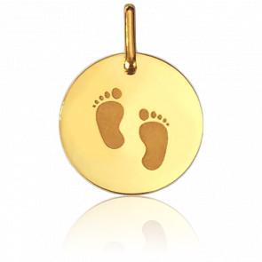 Medalla Piececitos Oro Amarillo