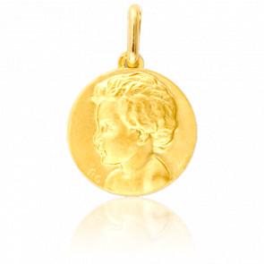 Medalla Niño de Perfil Izquierdo Oro Amarillo