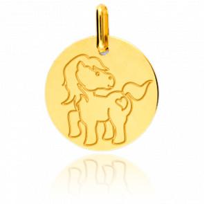 Medalla Poni Oro Amarillo
