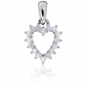 Colgante Valentina Oro Blanco & Diamantes