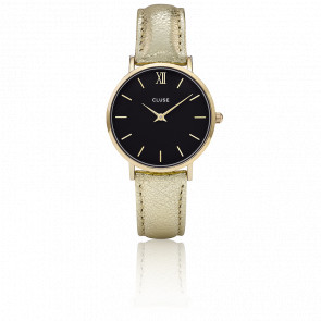 Reloj Minuit Gold Black Gold Metallic CL30037