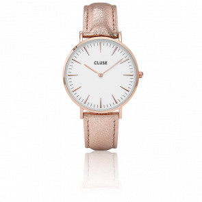 Reloj La Bohème Rose Gold White Rose Gold Metallic CL18030