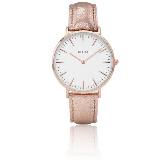 Reloj La Bohème Rose Gold White Rose Gold Metallic CL18030