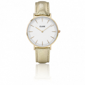 Reloj La Bohème Gold White Gold Metallic CL18421