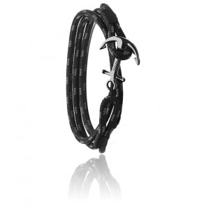 Pulsera Ancla Triple Black