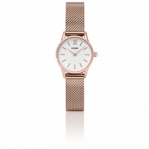 Reloj La Vedette Mesh Rose Gold White CL50006