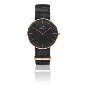 Reloj Classic Black Rose Gold Cornwall 36mm