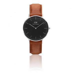 Reloj Classic Black Silver Durham 36mm