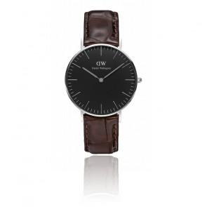 Reloj Classic Black Silver York 36mm