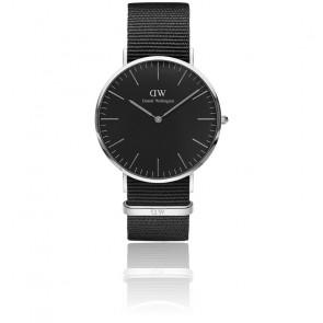 Reloj Classic Black Silver Cornwall 40 mm