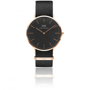 Reloj Classic Black Rose Gold Cornwall 40 mm