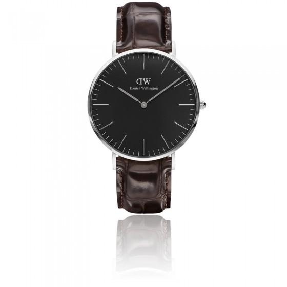 93d3bca50480 Reloj clásico Classic Black Silver York 40 mm - DW - Ocarat