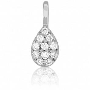 Colgante Goutte Divine Oro Blanco y Diamantes