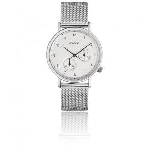 Reloj The Walther Silver Mesh