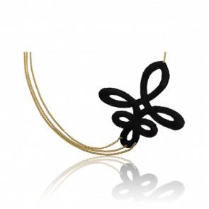 Joya para la Cabeza Lily negro