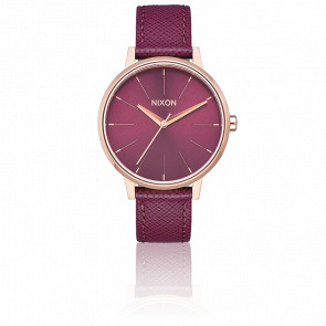 Reloj Kensington Leather Rose Gold / Bordeaux A108-2479