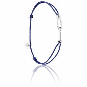 Pulsera Osmose Plata Cordón Azul