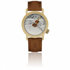 Reloj Art Violon Strad Oro 34 mm