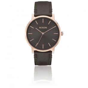 Reloj Nixon Porter Leather Rose Gold / Gunmetal / Surplus A1058-2441