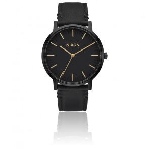 Reloj Nixon Porter Leather All Black / Gold A1058-1031