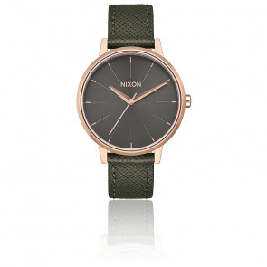 Reloj Kensington Leather Rose Gold / Green A108-2283