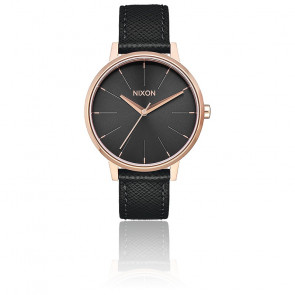 Reloj Kensington Leather Rose Gold / Black A108-1098