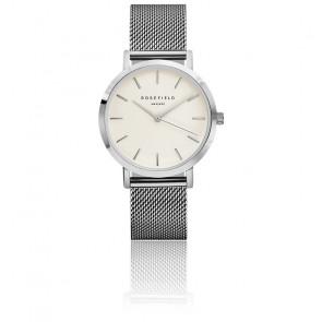 Reloj The Mercer White Silver MWS-M40