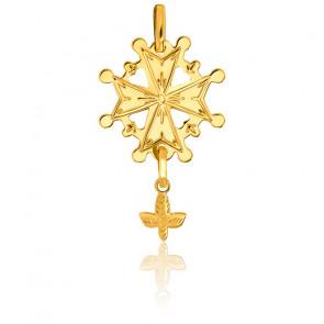Cruz Huguenote Oro Amarillo 18k, 18x28mm