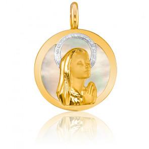 Medalla Virgen de Nácar y 2 oros 18 kt