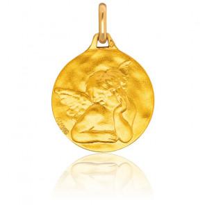 Medalla Circular Ángel Rafael Oro Amarillo 18K