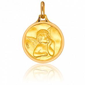 Medalla Ángel Oro amarillo 18k