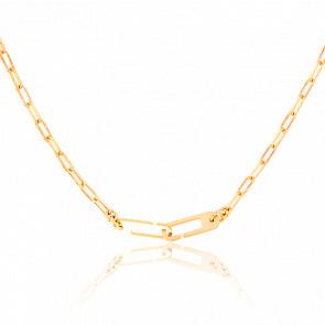 Collar Osmose Cadena Figaro Vermeil Amarillo