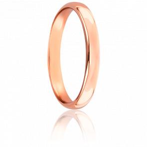 Anillo de boda Caña Parisina 3 mm Oro Rosa