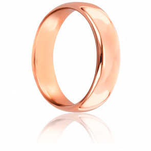 Alianza Caña Parisina 5 mm Oro Rosa