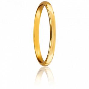 Alianza de boda oro amarillo 18k 2,5mm Sylvie