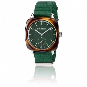 Reloj Clubmaster Vintage HMS Acetato - Correa nato verde